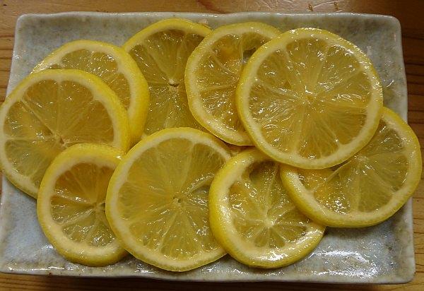 レモンは、早めに取り出しましょう!